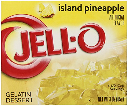 JELL-O Island Pineapple Gelatin Dessert Mix (3 oz Boxes, Pack of 24)