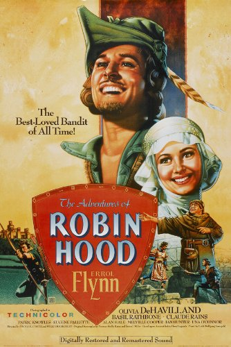 The Adventures of Robin Hood Poster Movie G 11x17 Errol Flynn Olivia de Havilland Basil Rathbone