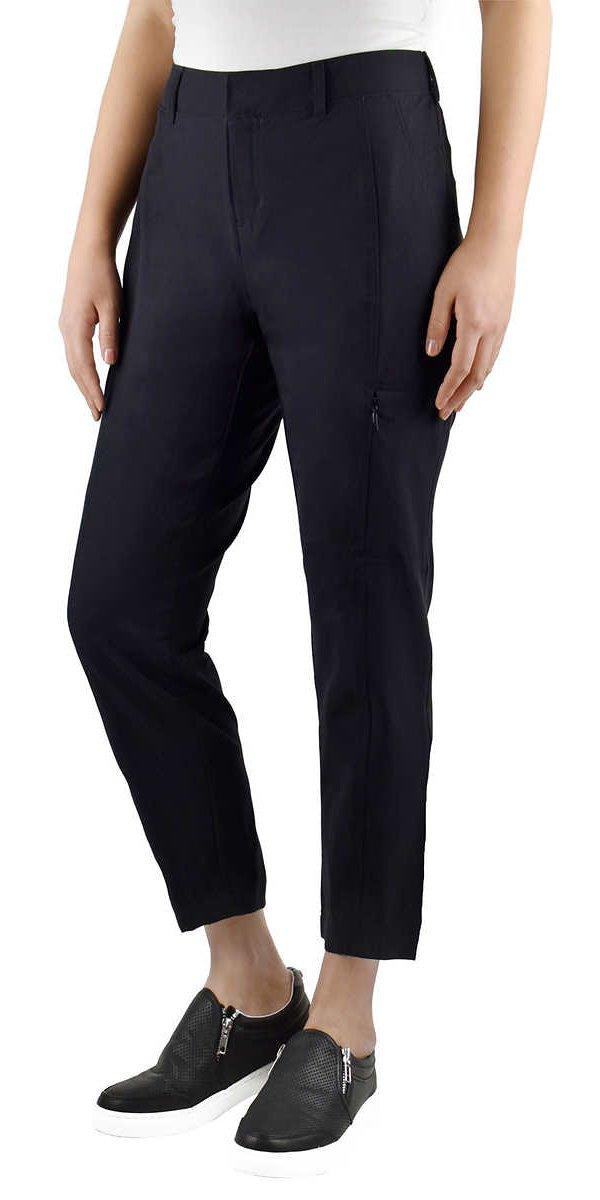 Kirkland Signature Ladies' Ankle Length Travel Pant (18W, Black)