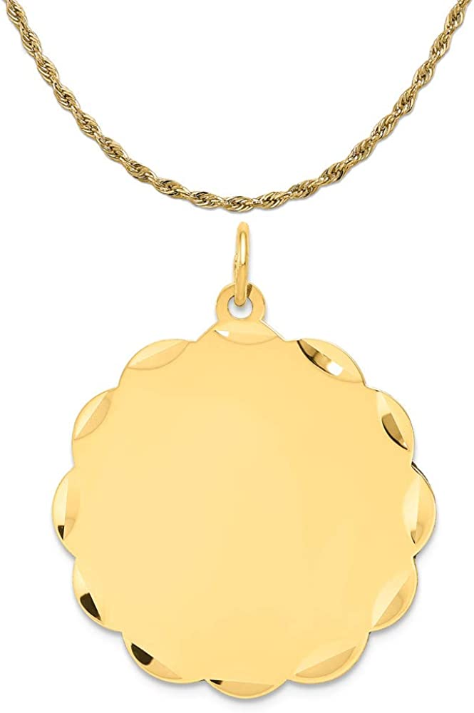 14k White Gold Plain .013 Gauge Rectangular Engravable Charm New Pendant