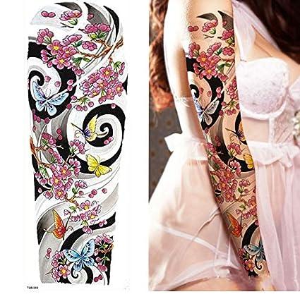 yyyDL Etiqueta engomada del tatuajePierna completa del brazo ...