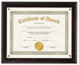 V-LIGHT Mahogany Finish Wood Award Plaque