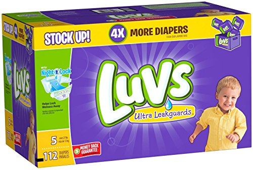 Luvs Ultra Leakguards Diapers - Size 5 - 112 ct
