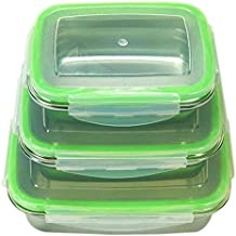 Calu Essentials CE Stainless Steel Food Containers With Airtight Lids - Bento Box Set - Leakproof Food Preservation Lunch Box - Lightweight Eco-Friendly Storage Containers - BPA FREE