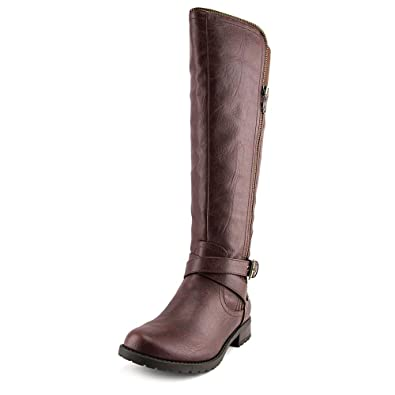 Amazoncom G By Guess Womens Halsey Faux Leather Tall Riding Boots
