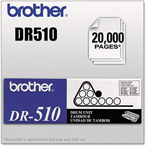 Brother DR510 20000 Page Drum Unit - Retail Packaging,Black