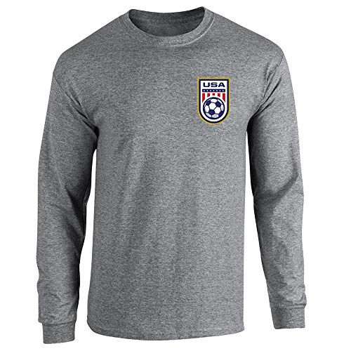 USA Soccer Retro National Team Jersey Graphite Heather S Lon