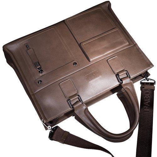 Mens Business Tote Handbag Doctor Leather Document Clutch Bag Strap by MXPBJ (Image #4)