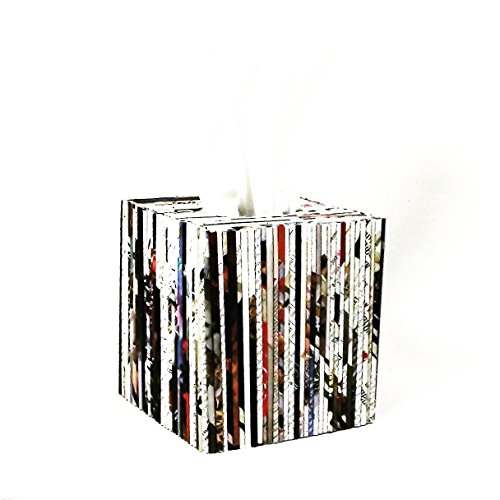 Newspaper Cover (Recycled Newspaper Tissue Box Cover)