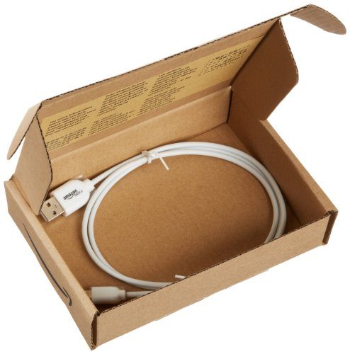 AmazonBasics USB A to Lightning  compatible Cable - Apple Certified - White (3 Feet/0.9 Meter)