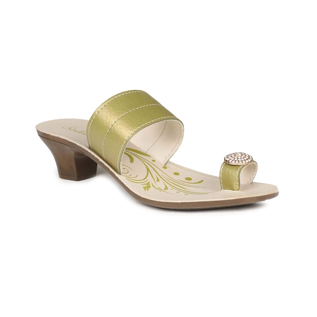 Olive Green-Brown Fashion Slippers