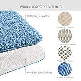 2 Pieces Shaggy Bath Rug Set Homever Bathmats Set