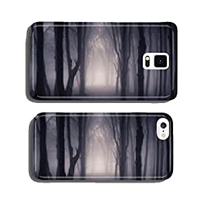 path through a dark forest at night cell phone cover case Samsung S6