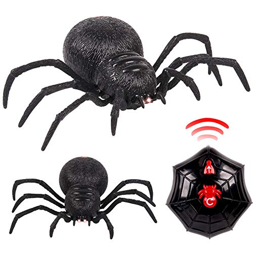 Sikye Electronic RC Toy,Remote Control Spider Scary Wolf Spider Realistic Novelty Prank Toy Party Favor