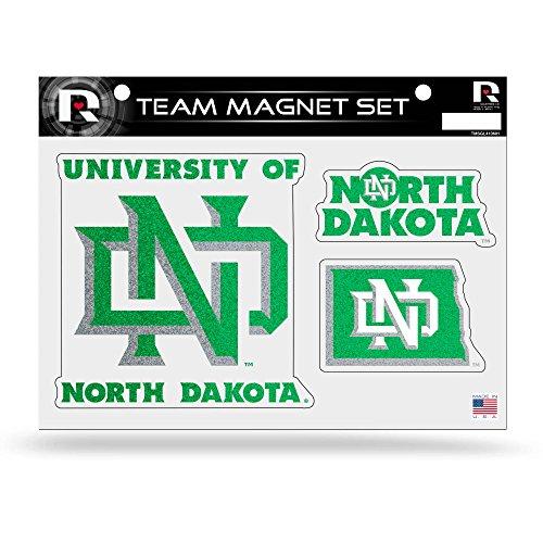 NCAA North Dakota Fighting Sioux Bling Team Magnet Set]()