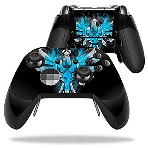 (MightySkins Skin for Microsoft Xbox One Elite Controller - Blue Reborn | Protective, Durable, and Unique Vinyl Decal wrap Cover | Easy to Apply, Remove, and Change Styles | Made in The USA)