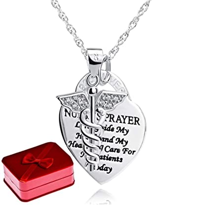 925 plata esterlina Angel corazón tarjeta collar doble ...