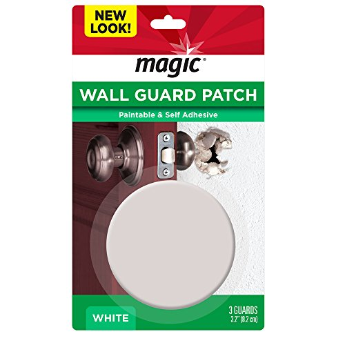 Magic Wall Guard - Quickly and Easily Repairs and Protects Walls from Doorknob Damage - 3 Pack (Appliques Wall Stick Self)