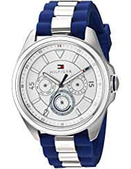 Tommy Hilfiger Womens SOPHISTICATED SPORT Quartz Stainless Steel and Silicone Casual Watch, Color:Blue (Model...