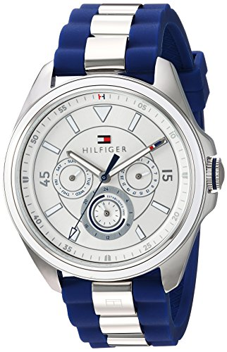 Tommy Hilfiger Women's 'SOPHISTICATED SPORT' Quartz Stainless Steel and Silicone Casual Watch, Color Blue (Model: 1781771)