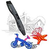 3D Printing Pen TOQIBO Intelligent 3D Pencil Printer Pen Arts Pen Making Doodle Arts & Craftswith for 3D Modeling, Education, 2 Free 1.75 mm Filament Support, bright OLED-Display