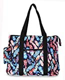 Ever Moda Peacock Feather Tote Bag X-Large
