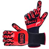 Feezzy BBQ Gloves 932°F Extreme Heat Resistant Oven Gloves For Cooking, Grilling, Baking - Extra Long Cuff
