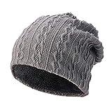 BSGSH Unisex Soft Slouchy Beanie Pentagram Printed/Solid Winter Comfortbale Ski Baggy Hat for Men Women (Gray B)