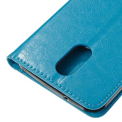 Para LG LS777/LG STYLUS 3/LG Stylo 3 funda, (Oro) Narcisos caja del teléfono de la PU patrón en relieve ,Función de Soporte Billetera con Tapa para Tarjetas correa de mano soporte para teléfono azur