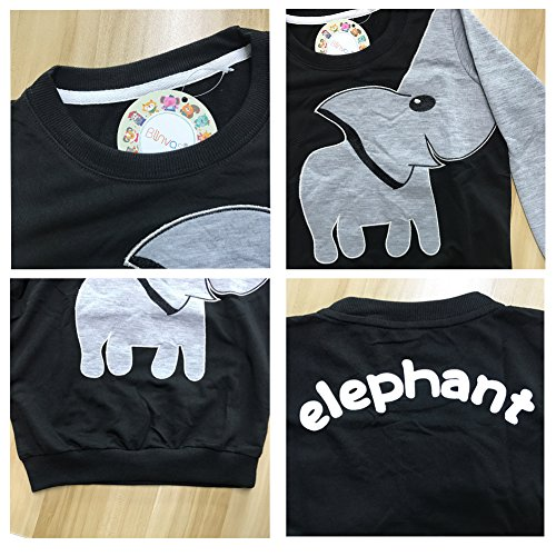 Jomago Boys Shirts Toddler Long Sleeve Top Kids Elephant Tee Toddler Sport Sweatshirt by Jomago (Image #2)