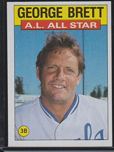 All Game Nhl 1986 Star (1986 Topps George Brett Royals All Star Baseball Card #714)