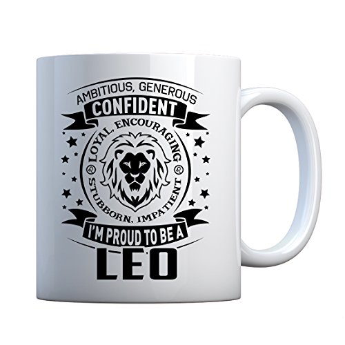 Mug Leo Astrology Zodiac Sign Large Pearl White Gift Mug ()