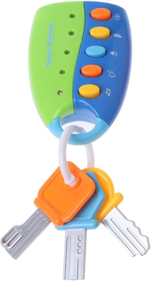 siwetg Juguete para Bebés Juguete De La Llave del Coche Musical Juguete Remoto Inteligente Voces De Automóvil Juego De Imaginación Juguete Educativo