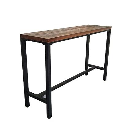 Tavolo Legno Massello E Ferro.Tavoli Da Bar Loft Vintage In Ferro Battuto Listello In