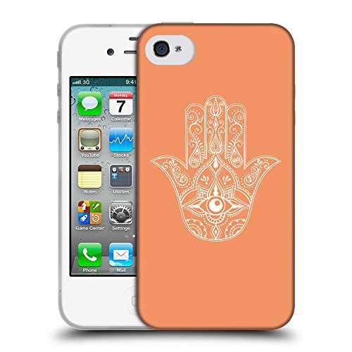 GoGoMobile Coque de Protection TPU Silicone Case pour // Q09970607 Œil Providence 23 Mandarine // Apple iPhone 4 4S 4G