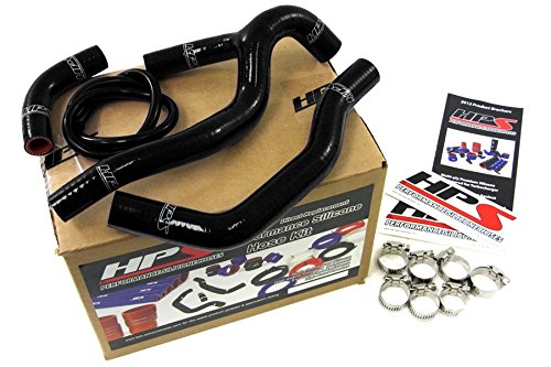 HPS 57-1237-BLK Black Silicone Radiator Coolant Hose Kit