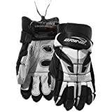 "Brine New Tyro Lacrosse Gloves 8"" Black/White/Silver"