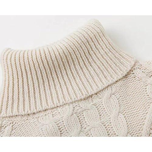 Largos De Color Vestido Outlet Mujer Cuello Suéter Sólido Alto cI6qx8PwxZ