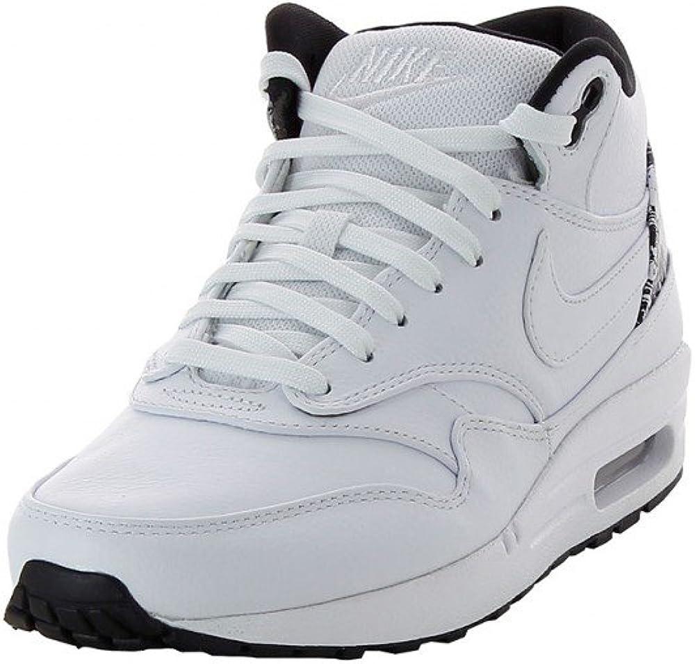 Nike Air MAX 1 Mid FB, Zapatillas Altas para Hombre White White Black