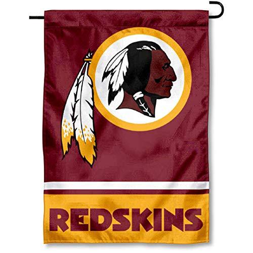 Washington Redskins Embroidered Football - WinCraft Washington Redskins Double Sided Garden Flag