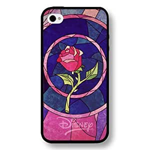 popular case Cartoon Beauty and The Beast, Hard Plastic Case for iphone 5 5s - Personalized popular case iphone 5 5s Case - Black