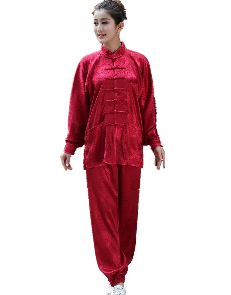 Shanghai Story Martial Arts Women's Tai Chi Uniform Silk Kung Fu Suit M 12 by Shanghai Story
