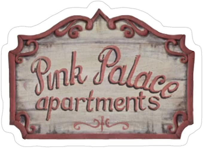 Amazon Com Big Lens Store Coraline Pink Palace Apartments Stickers 3 Pcs Pack Toys Games