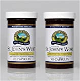 Naturessunshine St. John's Wort Concentrate Supports Nervous System 300 mg 100 Capsules (Pack of 2)