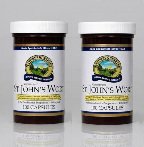 Naturessunshine St. John's Wort Concentrate Supports Nervous System 300 mg 100 Capsules (Pack of 2) by Nature's Sunshine
