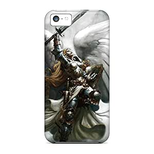 For LatonyaSBlack Iphone Protective Case, High Quality For Iphone 5c Angel Warrier Skin Case Cover