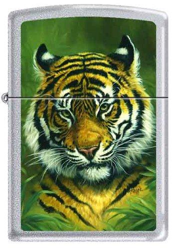 Zippo Custom Lighter - Linda Pickens Artist Tiger Head - Logo Linda