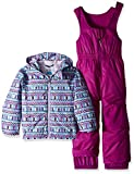 Columbia Kids' Toddler Frosty Slope Set, Bright Plum Zig zag Print, 3T