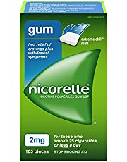 Nicorette Gum, Extreme Chill Mint, 2 mg, 105 Count