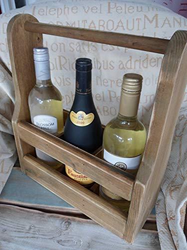 Botellero Solís. Para tres mini botellas de vino o tres botellas de cerveza. Un excelente regalo para novio, esposo o amigo....